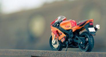 A model of a street bike